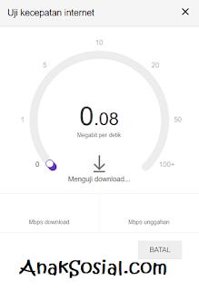 Proses Pengujian Dengan Google Speed Test