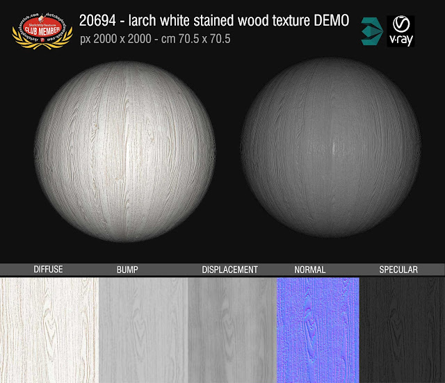 20694 Larch white stained wood texture seamless and maps