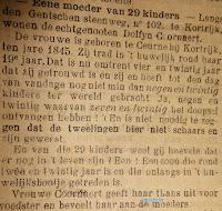 Het gezin Dolfyn-Coornaert uit Kortrijk kregen 29 kinderen.