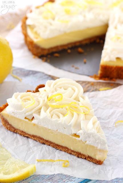 Recipes: creamy lemon tart {10 Lovely Lemon Desserts by Cool Chic Style Fashion}