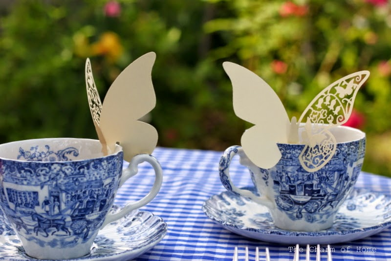 Butterfly Cup Toppers: The Charm of Home