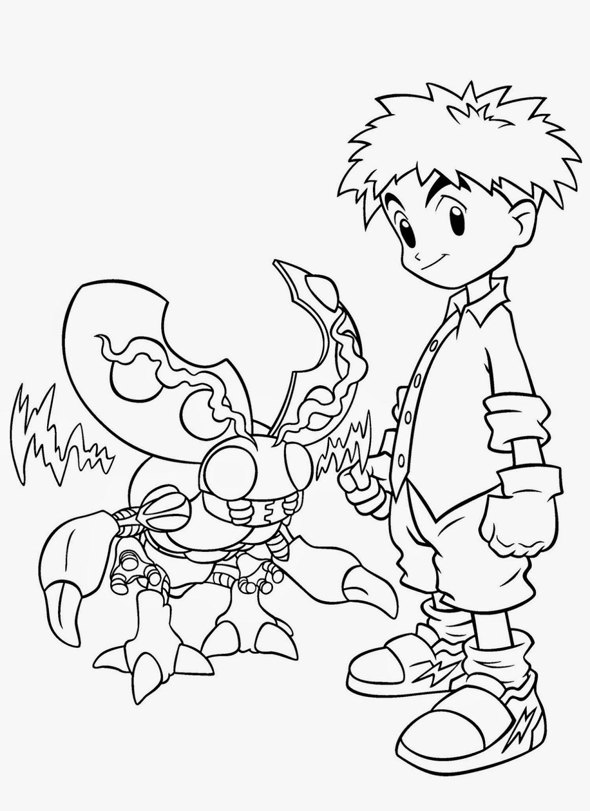 digimon data squad coloring pages   Desenhos Animados para Colorir e Imprimir: Desenhos dos ...