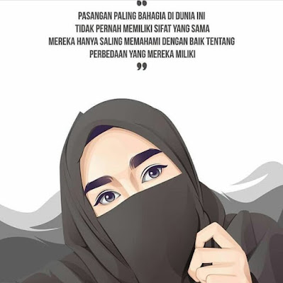 DP BBM Wanita Muslimah Bercadar Tentang Jodoh