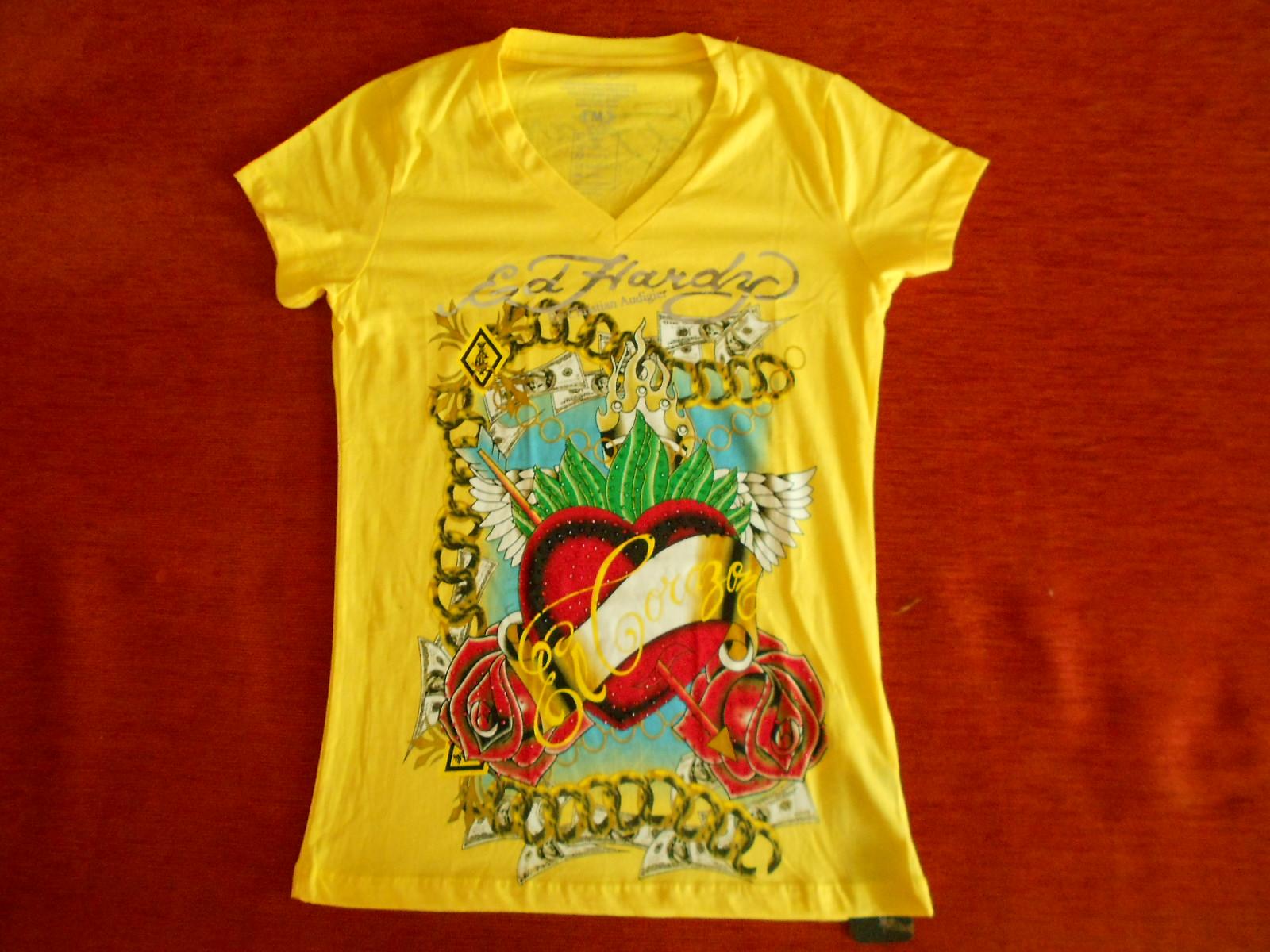 Camiseta Feminina Ed Hardy 74e931a7448c0