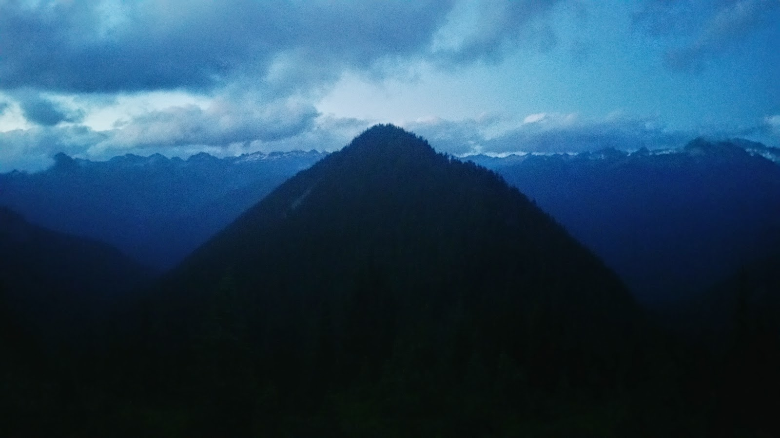 A foreboding Cascadian Mountain where Dragons live.