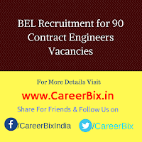 BEL Recruitment for 90 Contract Engineers Vacancies