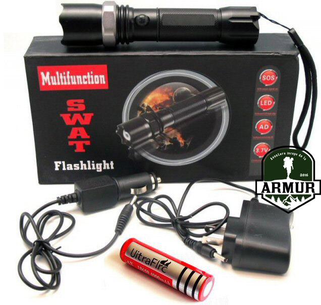 Lanterna SWAT Led Q5 1800W
