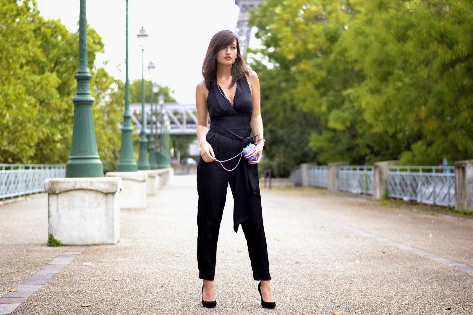 黑色连身裤