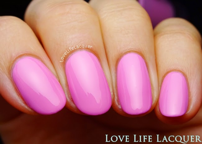 Gosh Bubble Gum swatch by @lovelifelacquer