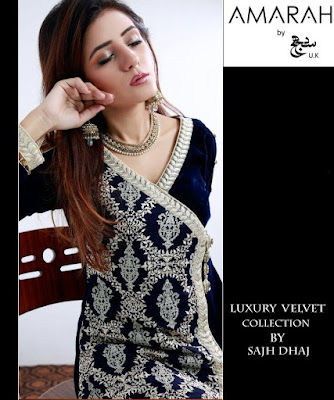 amarah-luxury-winter-velvet-dresses-collection-2017-by-sajh-dhaj-3