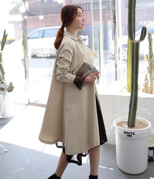 Concealed Placket Belted Coat