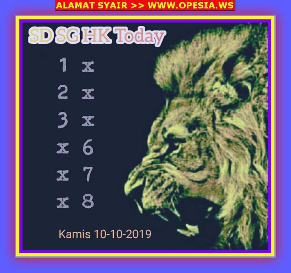 Kode syair Singapore Kamis 10 Oktober 2019 16