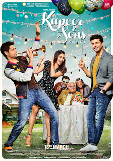 Kapoor & Sons, Movie Poster, Alia Bhatt, Fawad Khan, Sidharth Kapoor