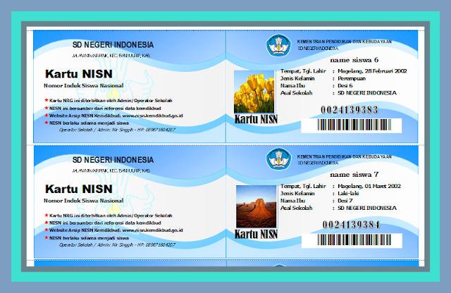 Download Aplikasi Cetak Kartu NISN Versi Terbaru 2017