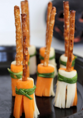 Easy Witch's Broomstick Snacks – Halloween Party Snacks