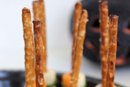 Easy Witch's Broomstick Snacks - Halloween Party Snacks