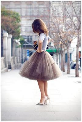 falda de tul asos