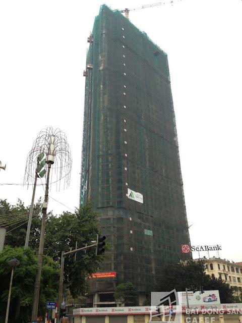 Tiến độ xây dựng tháp doanh nhân Hà đông