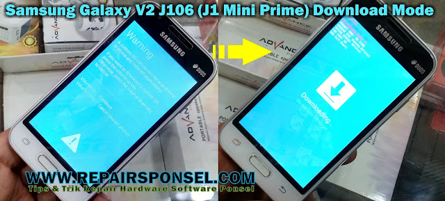 Cara Flash Samsung Galaxy V2 J106 (J1 Mini Prime) via Odin