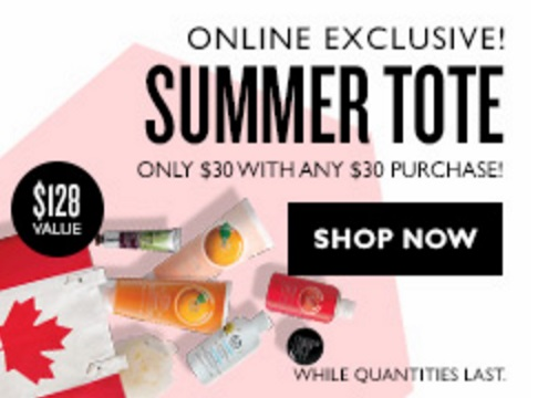 The Body Shop Sale + Summer Tote $30 With $30 Purchase