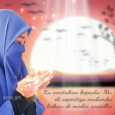 DP BBM Doa Muslimah Bercadar