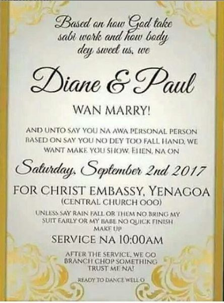 Email Wedding Invitations 95 Simple Trending Pidgin Wedding Invitation