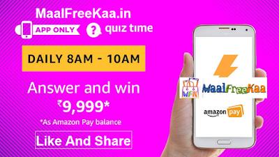 Amazon Quiz Time Answer