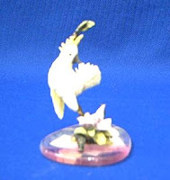 cockatoo bird figurine
