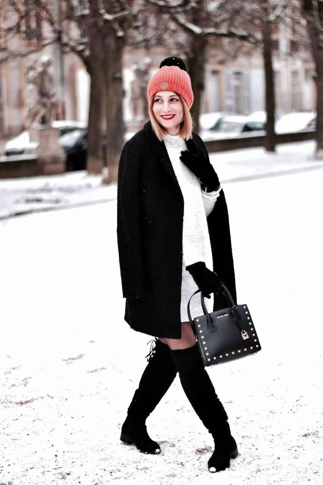 look d'hiver avec des cuissardes