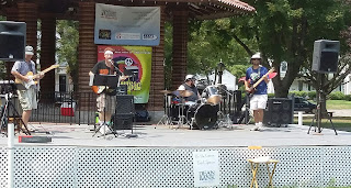 Kevin T Wolfe Band performing on the Town Common for the 2015 Cultural Festival