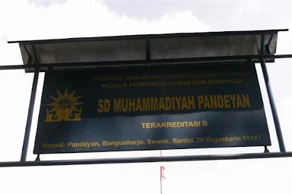 Profil Perpustakaan Sekolah SD MUHAMMADIYAH PANDEYAN, Desa BANGUNHARJO, Bantul Yogyakarta