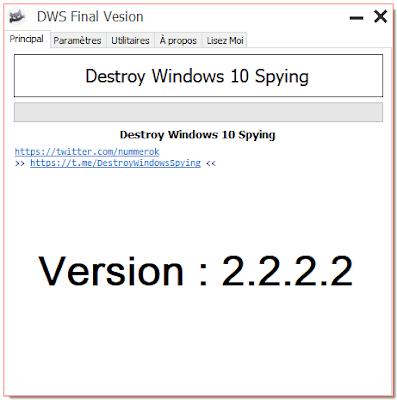 تحميل برنامج 'زالة جميع برامج التجسس من جميع إصدارات الويندوز destroy windows 10 spying