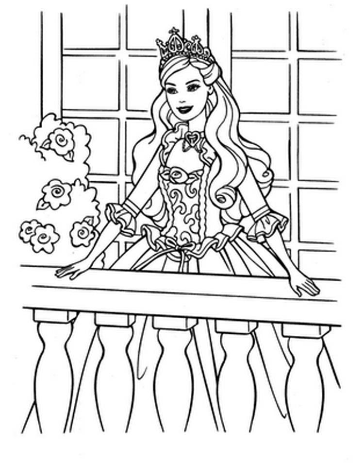Christmas Spirit Princess Katherine | Barbie Coloring ...
