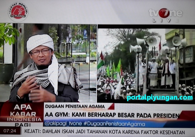 Aa Gym tentang Aksi 4 November 2016 di TV One: Kenapa Jokowi Malah Fokus Aksi Demo Bukan Sumber Masalah?