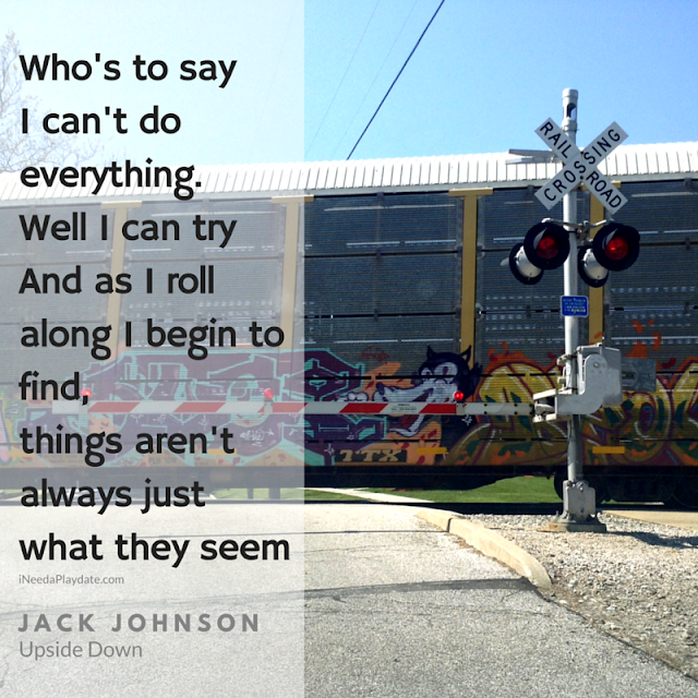 Who's to say I can't do everything... Jack Johnson, Upside Down