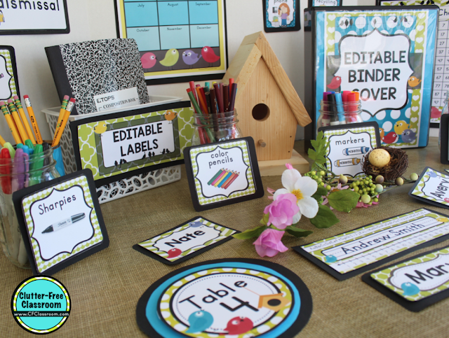 Bird Theme Classroom Decor Bundle