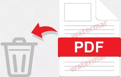 برنامج ازالة العلامة المائية من ملف pdf