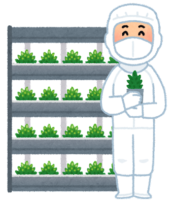植物工場のイラスト
