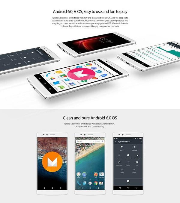 Vernee Apollo Lite 5.5-Inch Android 6.0 Helio X20 MT6797