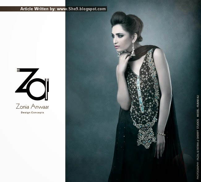 Pakistani Boutique Dresses 2015 Zonia Anwaar Designer Dresses She9 Change The Life Style