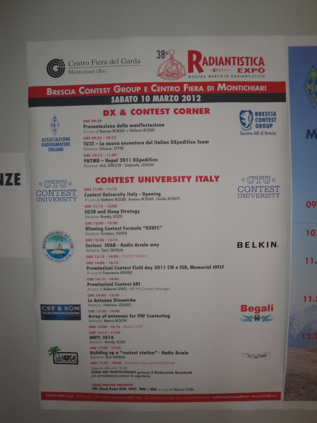 italy sweepstakes sv2dcd ctu contest university italy 2012 6462