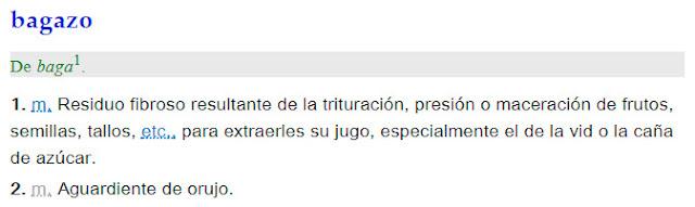 Bagazo - definición