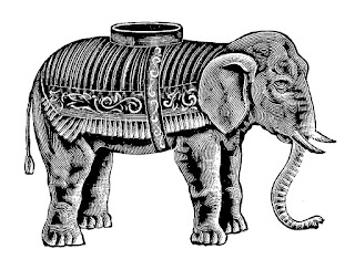 elephant circus image digital download