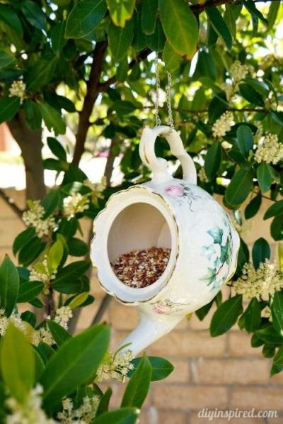 Buat bird feeder, tambahkan pakan burung, dan dalam beberapa hari burung-burung liar akan hafal tempat mereka bisa makan gratis.