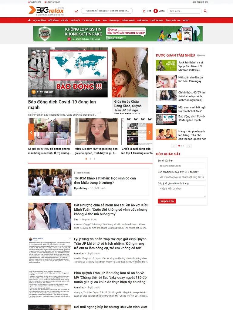 Giao diện blogspot tin tức chuyên nghiệp bfgrelax.com - Ảnh 1