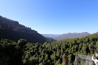 Three Sisters and Mt Solitary from Scenic World Top Station