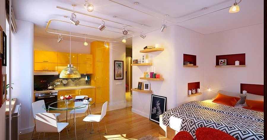 Small apartment decorating ideas how to increase the space - 1 bedroom apartment decor ...