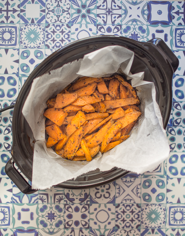 Gajos de boniato asado en Crock-Pot