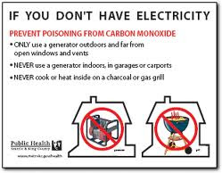 If you don't have electricity
