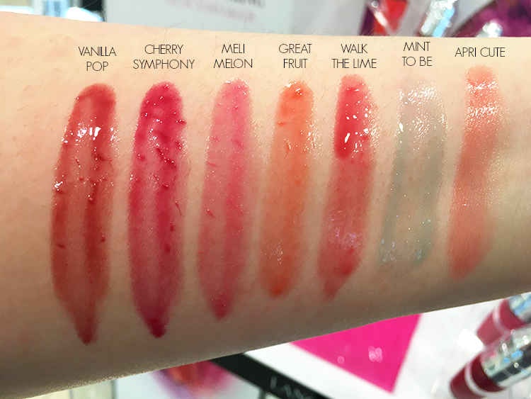 lancome-juicy-shakers-swatches-mint-to-be-blue-vanilla-pop-melon-berry
